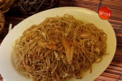 Пържени спагети с пилешко месо