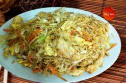 Пържено оризово фиде с пилешко
